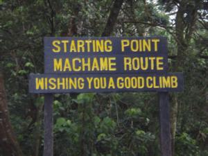 Starting point Machame