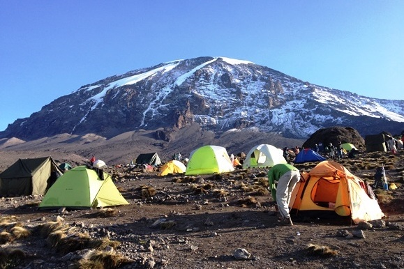 Planlægning af turen til Kilimanjaro.