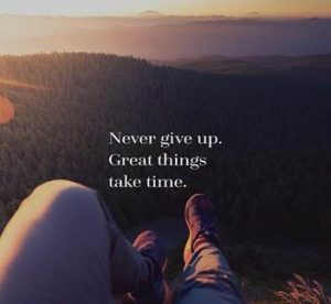 Nye og sunde vaner - Never give up